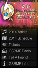 Great South Bay Music festival app launched !